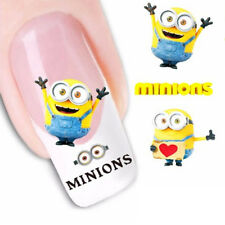 5pcs Funny Little Adorable Yellow Minions Nail Sticker Manicure Tools Lady Love