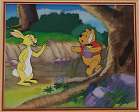 Disney Winnie the Pooh and Rabbit Original Production Cel With Inked Lines