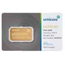 Goldbarren 10 Gramm Umicore in CoinCard 999,9er Gold
