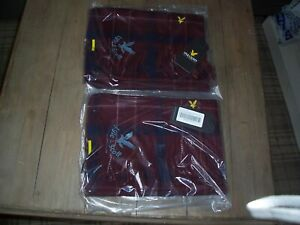 Lyle & Scott scarf red checked mens ladies womans lambswool  NEW - Reduced price
