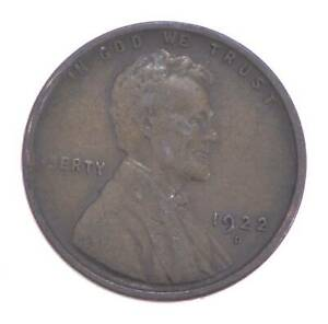 Semi Key 1922-D VF/XF Lincoln Wheat Cent - Sharp *622
