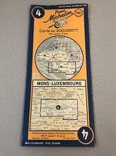 Carte michelin N°4 MONS-PARIS 1949/collector BIBENDUM vintage