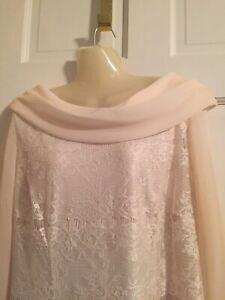 Dana KAY Ivory Lace dress Lined Very Elegant Sz 14