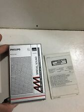 VINTAGE PHILIPS POCKET RADIO AM(MW) BAND FROM THE 1960S-1980s
