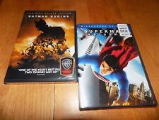 SUPERMAN RETURNS Widescreen BATMAN BEGINS 2 DVD Deluxe Edition SET NEW