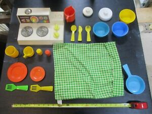 Fisher Price Fun Food Pick One Part Magic Burner Stove Top Oven Cooker Frying
