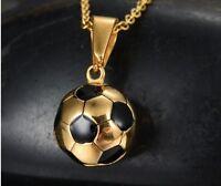 18k Gold Women's Soccer Ball 14mm Pendant Charm Only D212