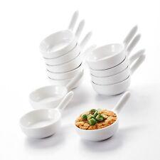 "MALACASA 12X 3.75"" MINI Ramekin Porcelain Ceramic Snack Dishes Set Home Kitchen"