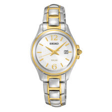 Seiko Core Solar Silver Dial Two-tone Ladies Watch SUT250