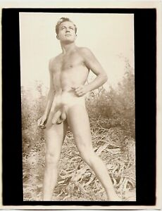Vintage Male Nude - 1950's Figure Study in Nature