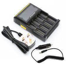 Nitecore D4 Digital Inteligente Universal 26650 18650 18350 León ni-CD cargador de batería