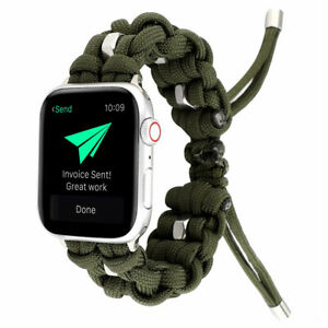 40/44mm Survival Rope iWatch Band Outdoor Sport Strap for Apple Watch 6 5 4 3 SE