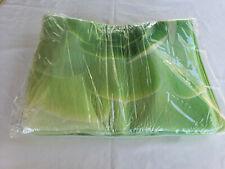 3pc Green Floral Print Bathroom Rug +Toilet Lid Cover +Mat Set Non Slip Washable