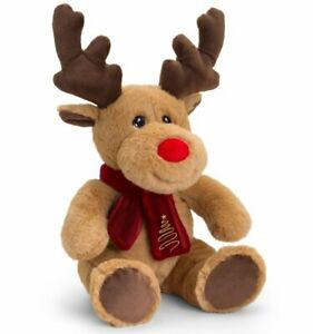 Keel Toys REINDEER with SCARF Soft Toy 25cm KEELECO 100% RECYCLED Eco Plush