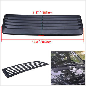 Cool Universal Car Decorative Air Flow Intake Scoop Bonnet Vent Cover Hood