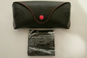 Black & red Ray Ban soft sunglass case