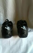 Clean PUMA sport Lifestyle racing driving black size 6 1/2, leather f-1,