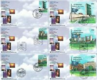United Nations 1999 In Memoriam: Fallen in the Cause of Peace Set of 6 FDCs