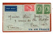 021017)...POSTE AERIENNE LETTRE BRESIL A PARIS EN 1935