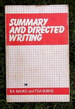 Summary and Directed Writing by R.A. Banks, F.D.A. Burns (Paperback, 1980)