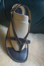 "Women's Börn Leather Strappy Sandals-Sz 9-EUC-Dk. Brown-1"" Heel-Comfy"