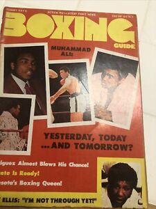MUHAMMAD ALI Boxing Guide Magazine April 1975 JIMMY ELLIS/FAUSTO RODRIGUEZ