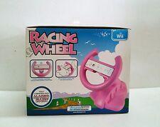 dreamGEAR Nintendo Wii Racing Wheel (pink) Pink - for Racing Games Mario Kart