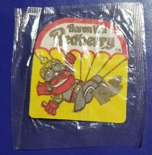 cereal box insert BARON VON REDBERRY general mills IRON ON PATCH sealed 1972