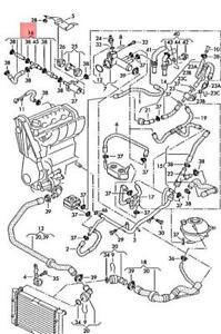 Genuine VW SEAT Sharan syncro 4Motion Coolant Hose Heat Exchanger 7M3122073BA
