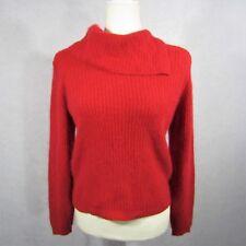 CRESCENDO Vintage Silk Angora Lambswool Nylon Red Sweater Size Medium EUC