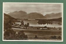 C1930'S RP PC LOCH LEVEN & THE SLEEPING CHANCELLOR FROM ABOVE THE GLEN COE HOTEL