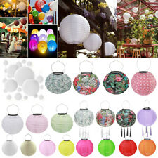 Solar LED Chinese Lantern Light Outdoor Waterproof Festival Print Hanging Lamp