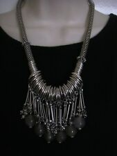 GREAT PLAINS - SILVER METAL AND GLASS BEAD NECKLACE