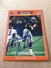 Herschel Walker VINTAGE HAND SIGNED 1989 ProSet Card w/COA Stock #1