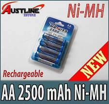 4x AA Ni-MH 2500mAh Rechargeable Battery