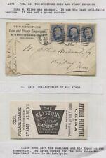 Ca. 1878 Advert Cover 3 Washington 1c They Keystone Coin & Stamp Phila.PA