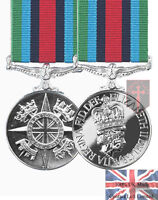 Official Sierra Leone Operational Service Miniature Medal + Ribbon ( OSM
