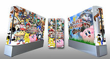 Skin Sticker Cover Nintendo Wii Console & 2 Remotes Super Smash Bros Brawl 221