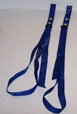 Blue Straps Adjustable Boat Fender Bumper Pair New Docking American Made in USA