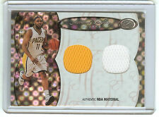 JAMAAL TINSLEY 06 BOWMAN ELEVATION DUAL GAME WORN JERSEY 54/99 INDIANA PACERS