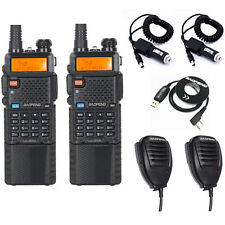 Baofeng 3800mAh UV-5R8W 2-Way Radio+2 Speaker+2Car Charger Cable+1 Program Cable