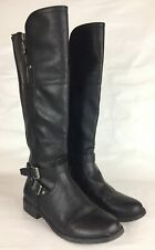 Guess 9 M Womens Riding Boots Tall Black Vegan Leather Shoes Harson 5