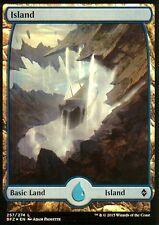 Island FOIL - Version 3 (Full Art) | NM/M | Battle for Zendikar | Magic MTG
