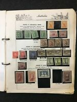CJ1) Australia 1913 – 1975 Used Collection on Seven Seas pages in Green Binder