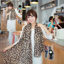 Stylish Georgette Soft Long Style Stole Gauz Scarves Scarf Wrap Leopard Shawl