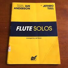 Jethro Tull Flute Solos Songbook Ian Anderson Book Arranged by Jeff Rona