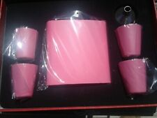 1X Pink Stainless Steel 6OZ Flask Gift Box Set Comes With Four Shot Cups Funnel