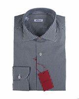 Kiton Napoli Extrafine Cotton Modern Fit Dress Shirt ~ Handmade in Italy