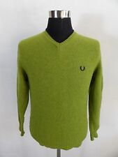 Women's Fred Perry Jumper Sweater, Size L Large, Green, Long Sleeve #BL1082