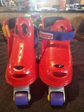 Fisher Price My First Roller Skates Adjustable Boys Girls Size 6-12 Kids Red Vg